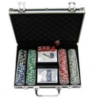 Покерний набір 200 фішок, кейс - чорний