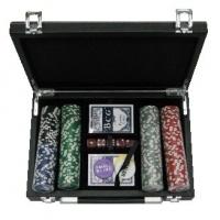 Покерний набір 200 фішок, кейс - шкіра