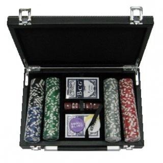 Покерный набор 200 фишек, кейс - кожа