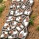 Форми для виготовлення садових доріжок 40x40 см.