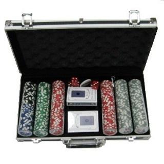 Покерный набор 300 фишек, кейс - черный
