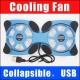 Охлаждающая подставка для ноутбука Mini Notebook Fan 7-15