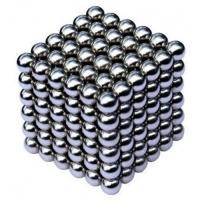 Неокуб 5 мм, neo cube, магнитніе шарики, головоломка, колір металік
