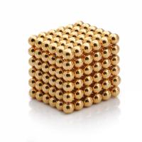 Неокуб 5 мм, neo cube, магнітні шарики, головоломка, колір золото