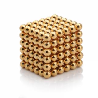 Неокуб 5 мм, neo cube, магнитные шарики, головоломка, цвет золото