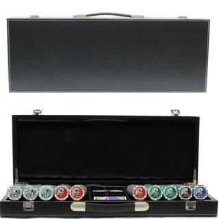 Покерный набор 500 фишек, кейс - кожа
