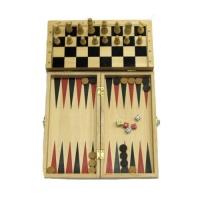 Дерев'яні шахи / нарди 40х40 см.