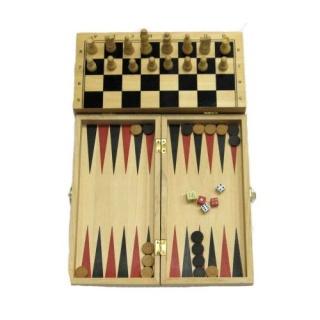 Деревянные шахматы / нарды 30х30 см.