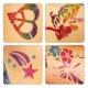 Трафарети для гліттер тату Shimmer Glitter Tattoos