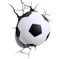 3D cвітильник Футбольний м'яч в дитячу кімнату