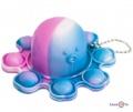 Іграшка антистрес pop it восьминіг у вигляді брелка