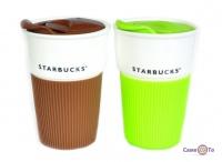 Керамічна герметична термочашка Старбакс (Starbucks)