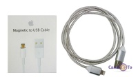 Магнітний кабель USB для Iphone Magnettic to USB Cable MD818FE / A