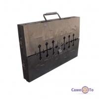 Мангал-чемодан Турист на 6 шампурів складаний