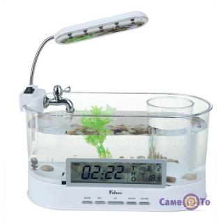 Настільний акваріум - органайзер з USB (прозорий)
