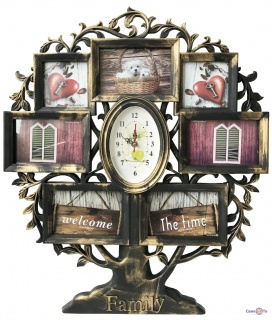 Мультирамка для фотографій Family з годинником