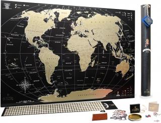 Скретч карта світу My Map Black Edition ENG - карта мандрівника