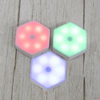 Модульний світильник на батарейках, настінний світильник з пультом, шестигранний (3 шт./уп.)