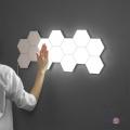 Світильник на батарейках лед, настінний світильник з пультом, шестигранний (6 шт./уп.)