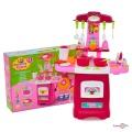 Іграшкова кухня для дітей зі справжньою мийкою - ігровий набір Fun Game (24 предмета)