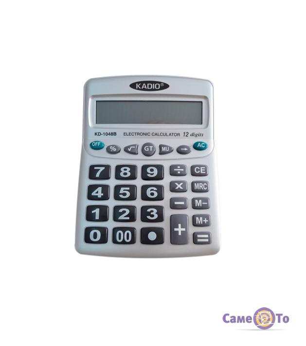 Простой калькулятор Kadio KD-1048B, настольный