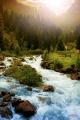 """Настінний інфрачервоний обігрівач-картина Тріо """"Гірська річка"""""""