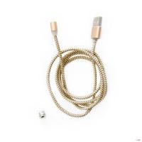 Кабель для зарядки на магніті M3 1000 мм Micro-USB (золотистий)