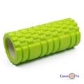 Масажний вал / ролик для масажу спини і прокатки м'язів зелений з великими секціями