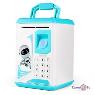 Дитячий іграшковий сейф скарбничка з кодом Fingerprint Induction