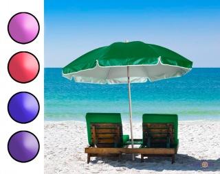 Пляжна парасолька від сонця, велика парасоля для саду, діаметр купола 1.75 м