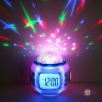 Часы будильник с музыкой и проектором звездного неба Starry Sky Cаlendar