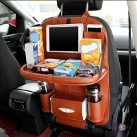Органайзер в машину - накидка на спинку автомобильного сиденья Folding Dinner Posture Back Handing Bag