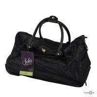 Дорожня сумка на колесах - валіза дорожня, чорного кольору Calpak