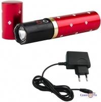 Светодиодный фонарик BL 1202 - фонарик с электрошокером в виде женской помады