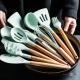 """Набір кухонного приладдя """"Kitchen & dining"""" 11 в 1, кухонне приладдя та силіконові лопатки"""