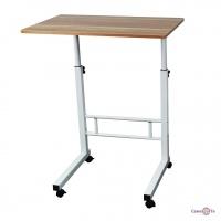 Журнальний столик для ноутбука на коліщатках з регулюванням висоти (40х60 см)