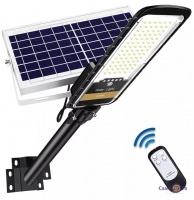Садовий ліхтар на сонячних батареях UKC Solar Street JD 296 VPP 200W | вуличний ліхтар на сонячній батареї з пультом