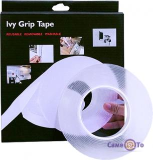 Багаторазова липка стрічка скотч Ivy Grip Tape, 5 метрів