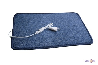 Електрокилимок з підігрівом (ковролін) Тріо (синій, зкруглені кути)