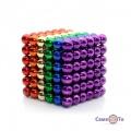 Різнокольоровий конструктор магнітні кульки Неокуб Neocube 216 5 мм MIX COLOUR