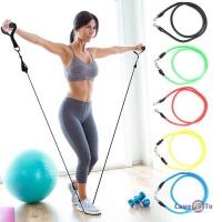 Резиновый эспандер с ручками для фитнеса 11 предметов