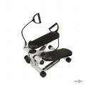 Домашній тренажер степпер для ніг з еспандерами Mini Stepper Чорно-білий