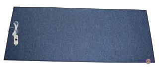 Ковер с подогревом электрический инфракрасный Трио,  150 x 60 см (темно-синий с прямоугольными краями)
