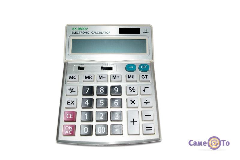 Настольный калькулятор AX-9800V, 12-разрядный