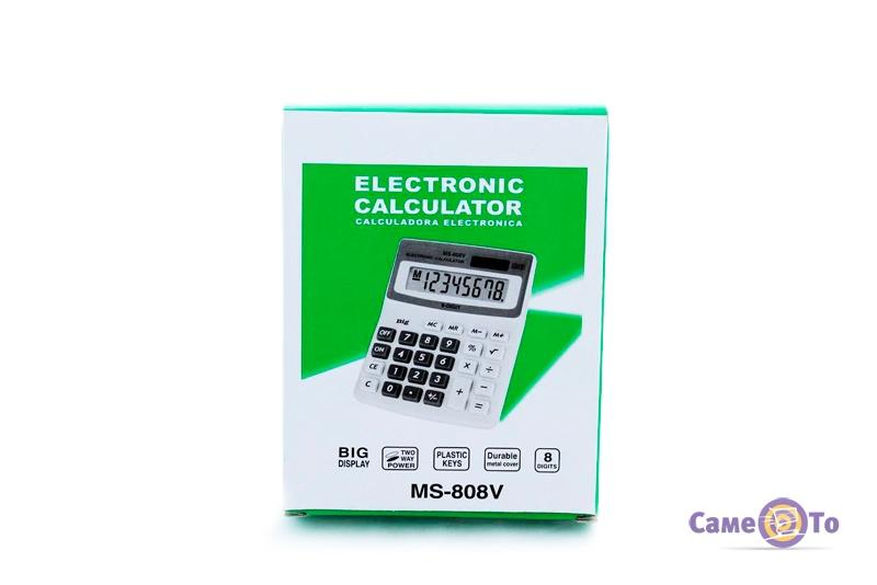 Калькулятор с процентами MS-808V, настольный
