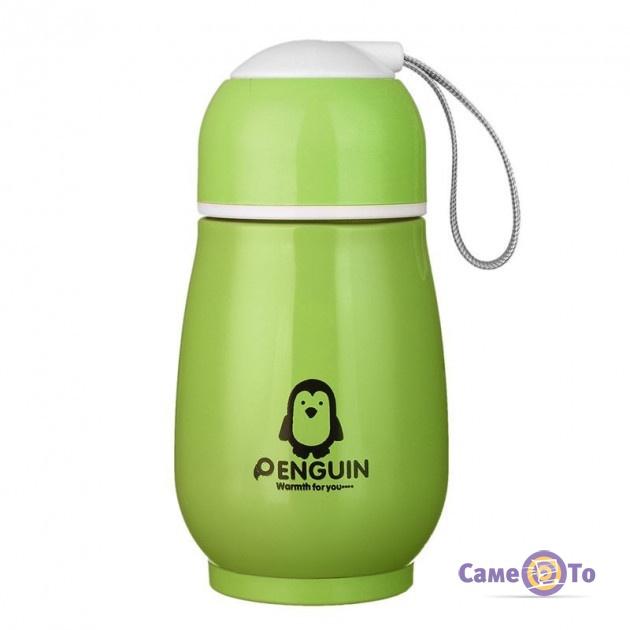 Детский термос Пингвин - маленький термос для чая