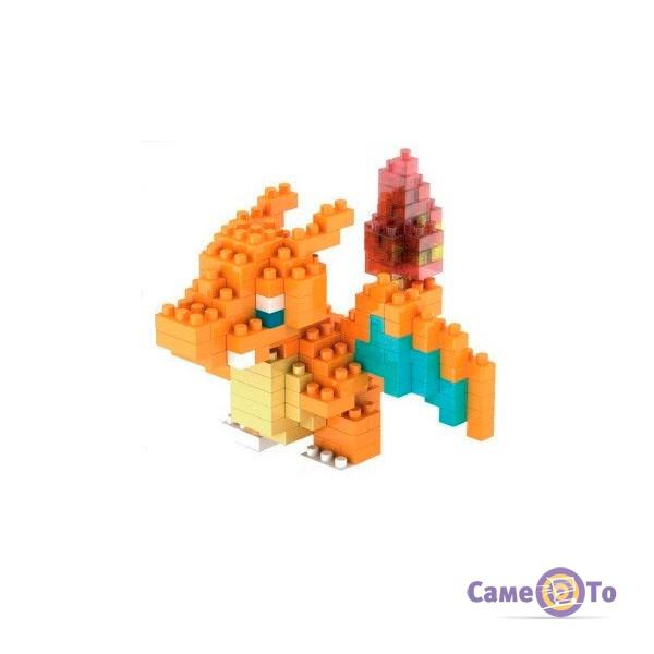 Конструктор из лего Покемон: лего фигурки Пикачу, Чаризарда и Сквиртла