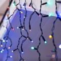 Новорічна гірлянда для вулиці Xmas M-2 120 LED Бахрома чорна, різнобарвна 5х0.5 м.