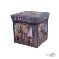 Складаний ящик для іграшок Ведмежата - коробка для зберігання речей