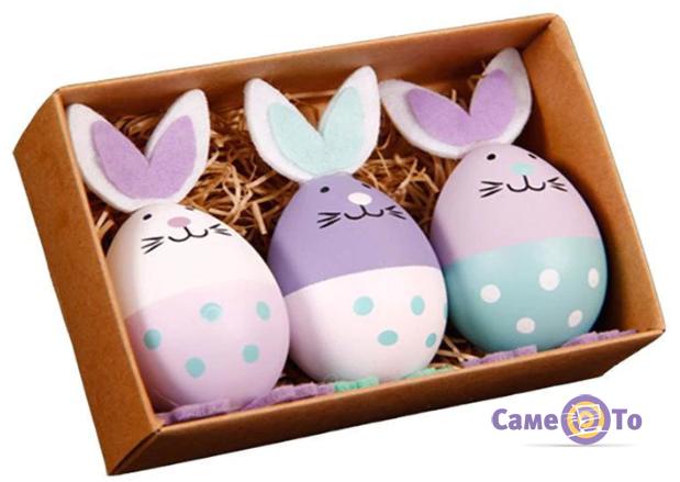 Пасхальные украшения - пасхальный заяц, набор 3 шт.